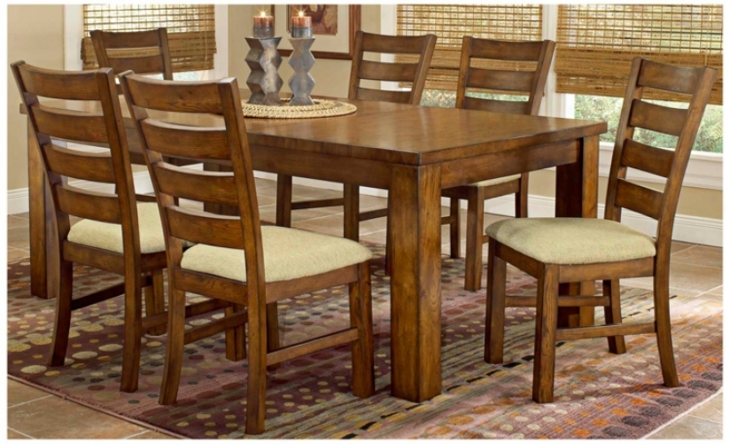 Hillsdale Hemstead Oak Finish 7 Piece Dining Set (t5524)