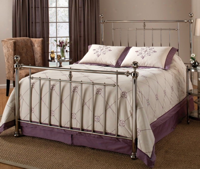 Hillsdale Holland Nickel Finish Metal Bed (queen) (m6499)
