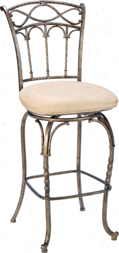 "Hillsxale Kendall Bronze Finish 26"" Violent Counter Stool (f1745)"