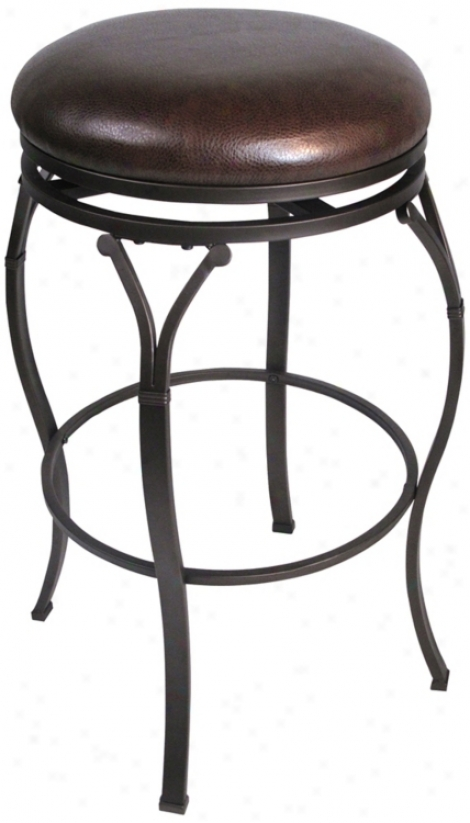 "Hillsdale Lakeview Brown Backless 30"" Bar Stool (u55564)"