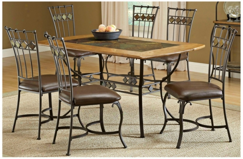 Hillsdale Lakeview Rectangle Slate 7 Piece Dining Set (t5530)