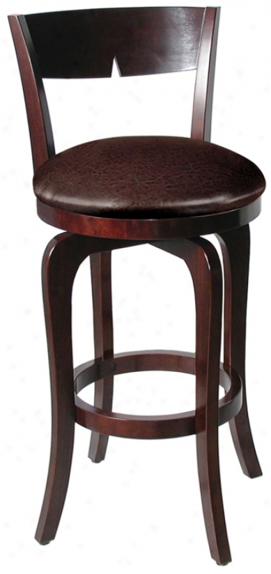 "Hillsdale Luna Merlot Swivel 24"" High Counter Stool (k9725)"