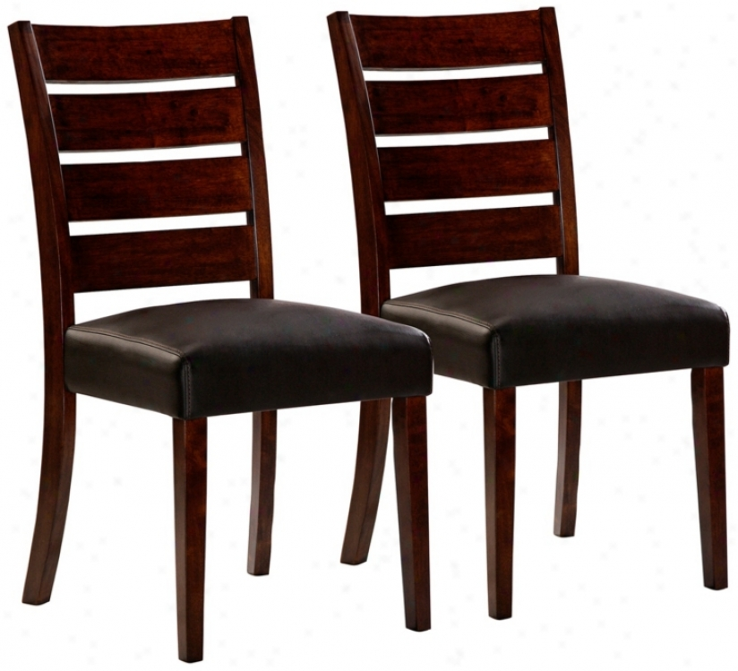 Hillsdale Lyndon Lane Set Of 2 Ladder Back Dining Chairs (w4861)
