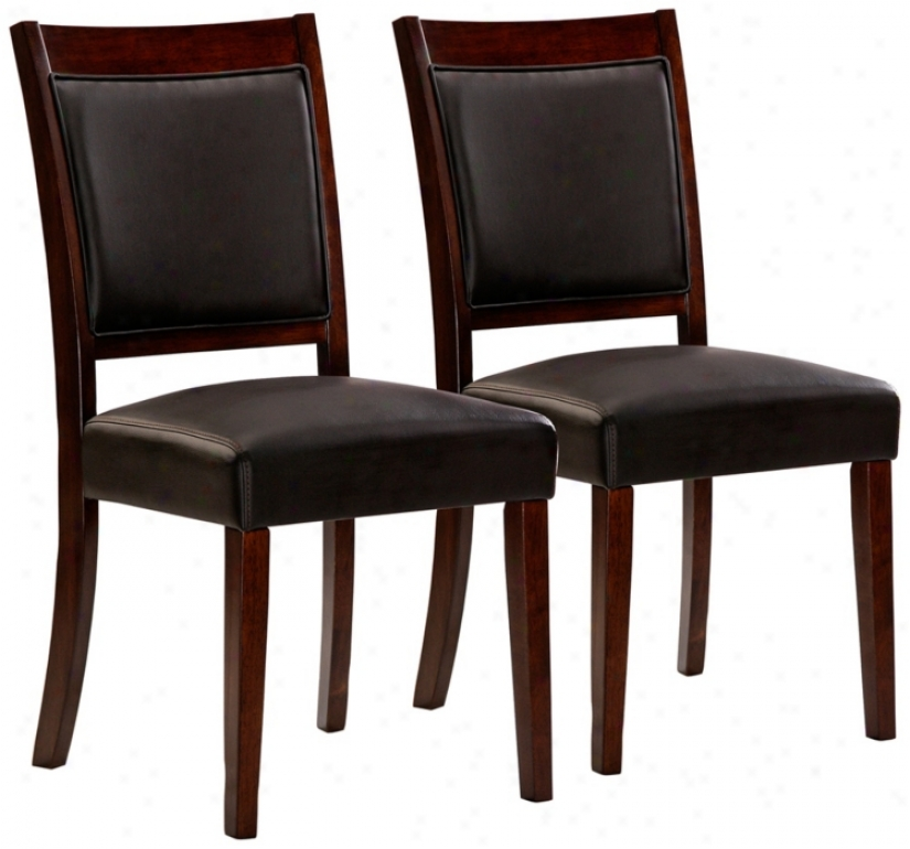 Hillsdale Lyndon Lane Regular Of 2 Upholstered Dining Chairs (w4863)