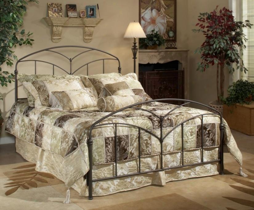 Hillsdale Marco Brown Steel Bed (king) (t4309)
