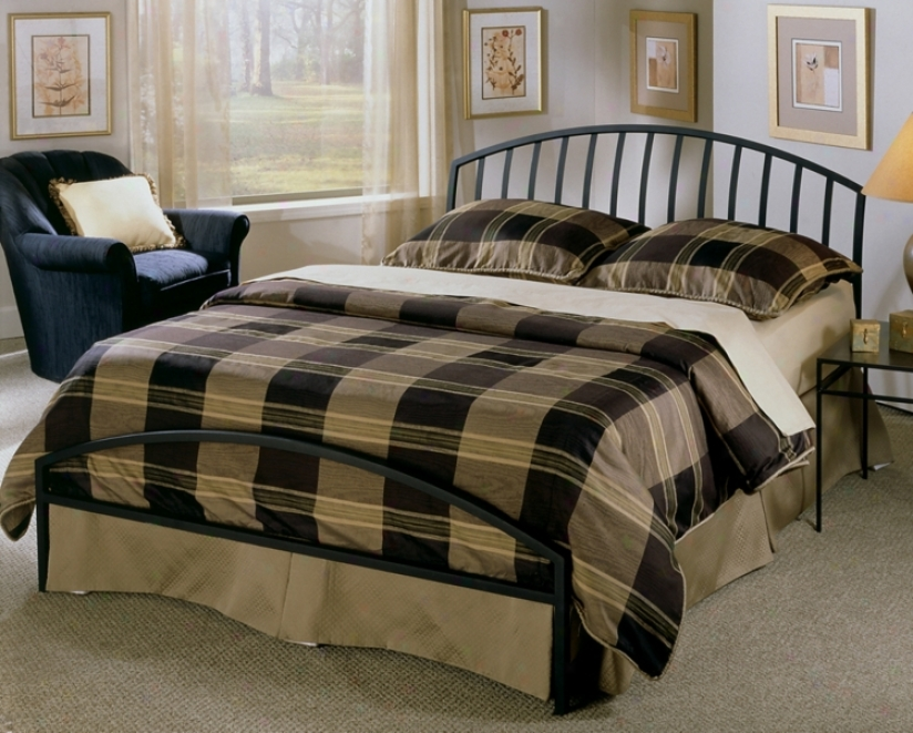 Hillsdale Old Towne Textured Blsck Bed (king) (t4335)