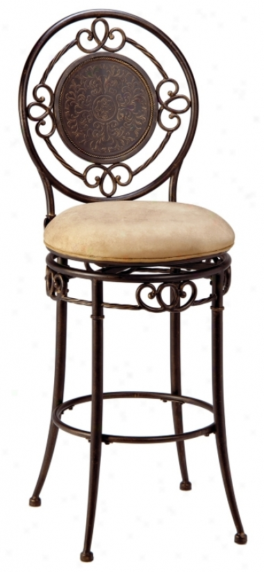 """Hillsdale Richland Armpess Swivel 26"""" High Counter Stool (k8980)"""