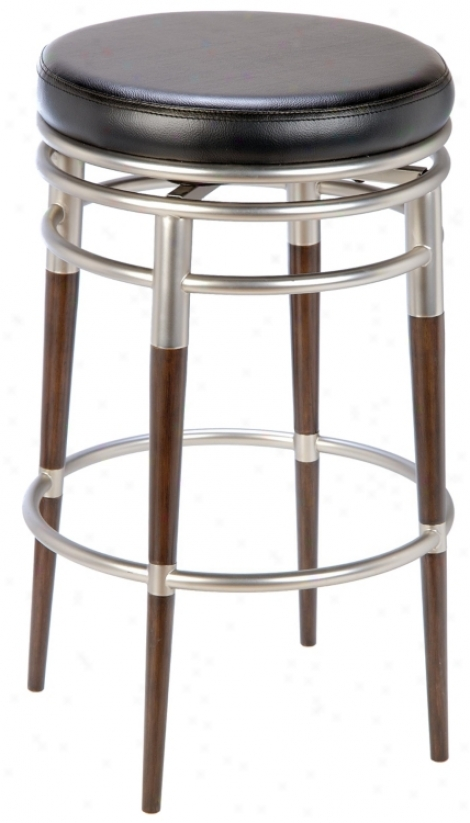 "Hillsdale Salem Backless Swivel 27"" High Counter Stool (f1755)"