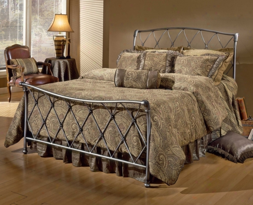 Hillsdale Silverton Brushed Silver Bed (full) (t4337)