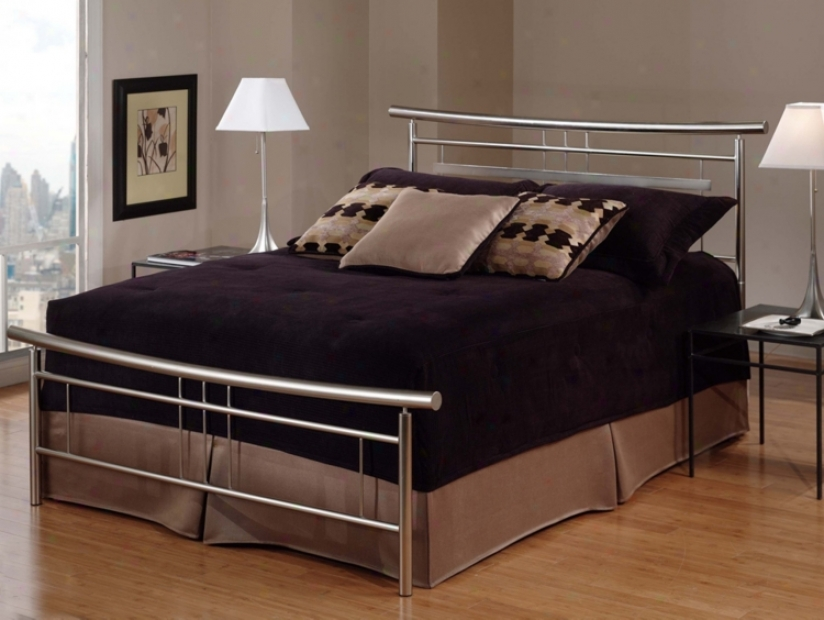 Hillsdale Soho Bruzhed Nickel Bed (king) (t43343)