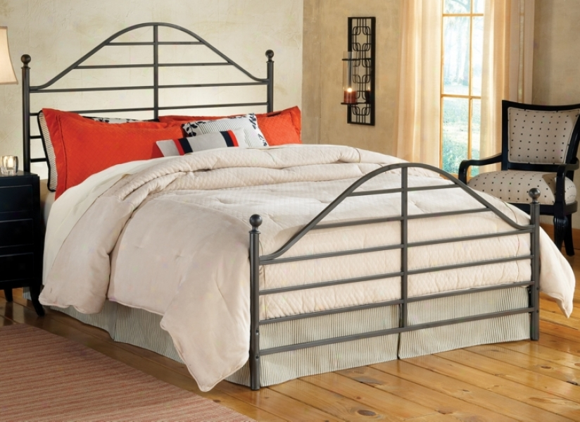 Hillsdale Trenton Magnesium Pewter Metal Bed Set (Doubled) (v9632)