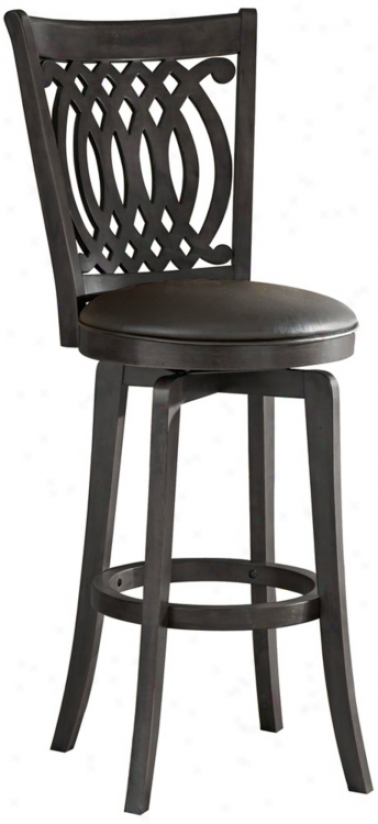 "Hillsdale Van Draus Swivel 30"" High Bar Stool (n2969)"
