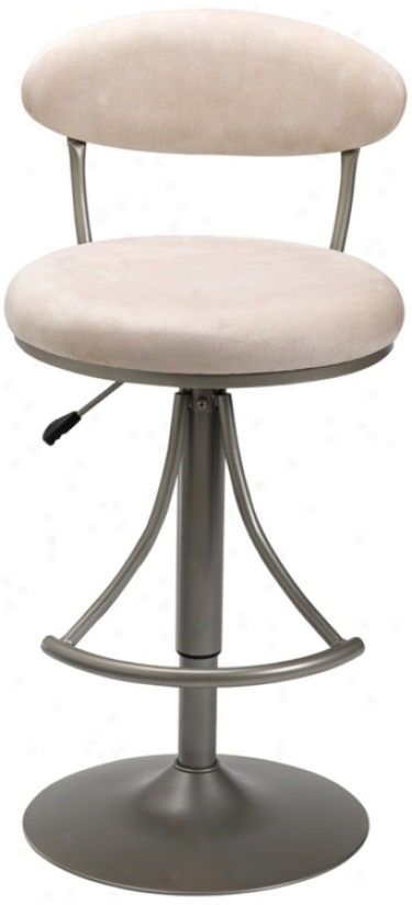 Hillsdale Venus Fawn Adjustable Bar Or Counter Stool (k8992)