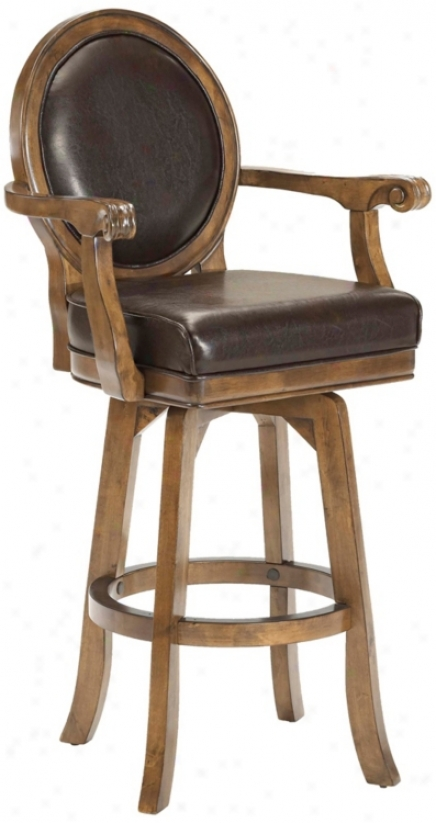 "Hillsdale Warrington Swivel 30"" High Bar Stool (n2911)"