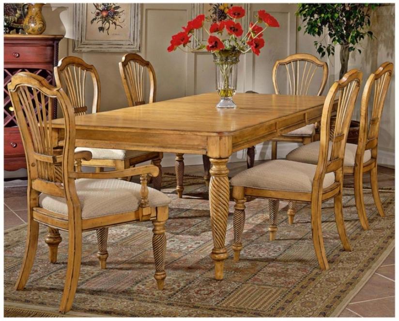 Hillsdale Wilshire Rectangle Pine Finisj 7 Piece Dining Set (t5538)