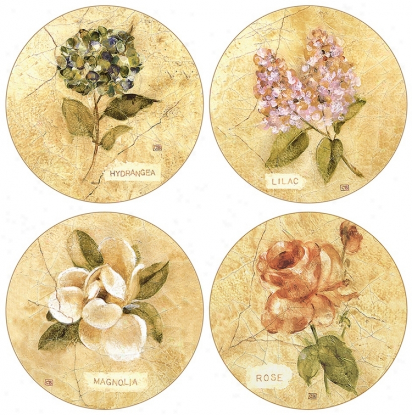 Hindoqtone Set Of 4 Cracked Lienn Coasters (r1527)