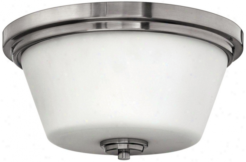 "Hinkley Avon Collection Nickel 15"" Wide Ceiling Lkght (r4158)"