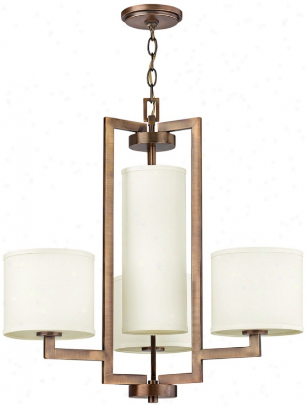 "Hinkley Hampton Collection 24 3/4"" Wide Bronze Chandelier (v3969)"