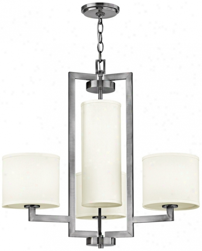 "Hinkley Hampton Collection 24 3/4"" Wide Nickel Chandelier (r9009)"