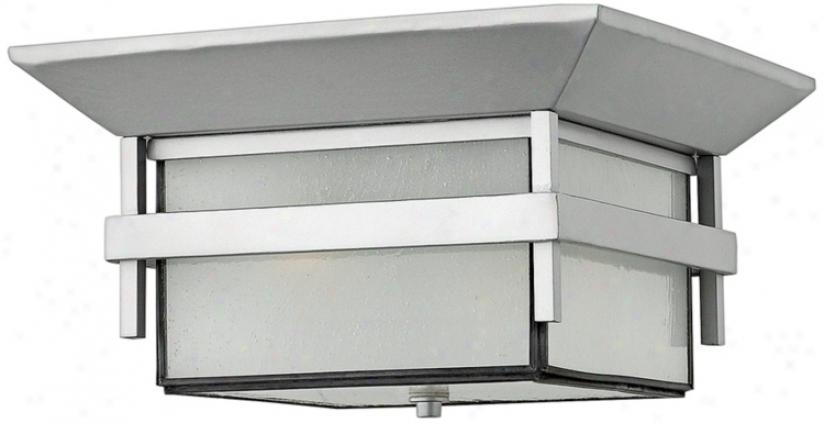 "Hinkley Harbor Titanium 7 3/4"" High Outdoor Ceiling Light (h0567)"