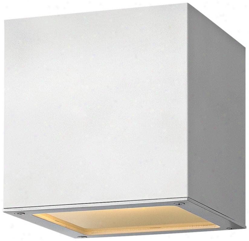 """Hinkley Kuube Up-down 6"""" High Satin White Outdoor Wall Light (v5752)"""