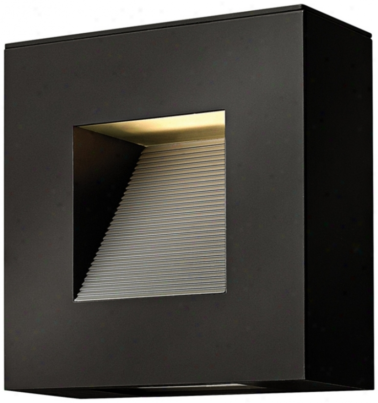"Hinkley Luna 9"" Wide Satin Black Outdoor Wall Light (v6031)"