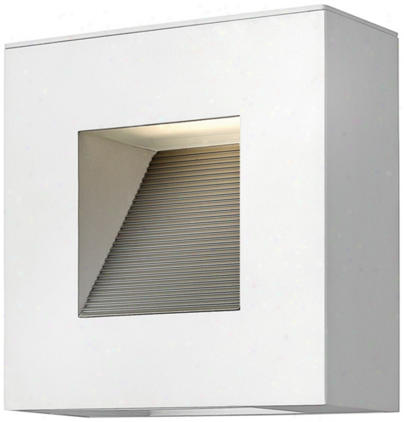 "Hinkley Luna 9"" Wide Satin White Outdoor Wall Light (v0336)"