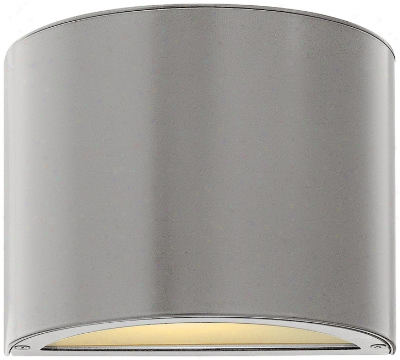 "Hinkley Luna Down 9"" Wide Titanium Outdoor Wall Light (v6066)"