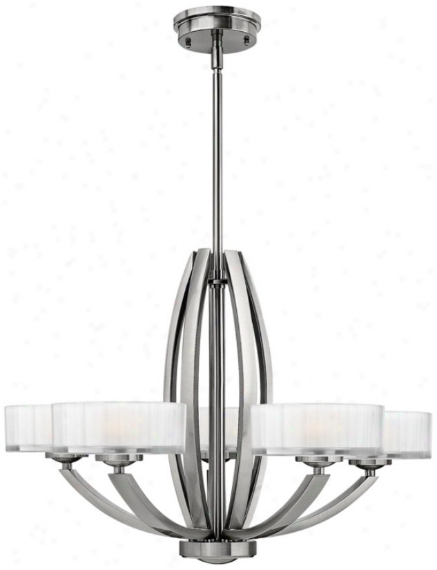 "Hinkley Meridian Collection 27"" Wide Nickel Pendant Light (v3917)"