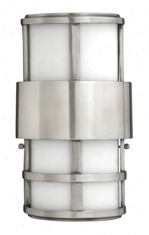 """Hinkley Saturn 12 1/2""""H igh Stainless Steel Outdoor Light (59699)"""