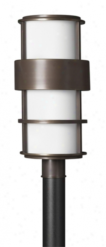 "Hinkley Saturn Metro Bronze 21 3/4"" High Post Mount Light (60882)"