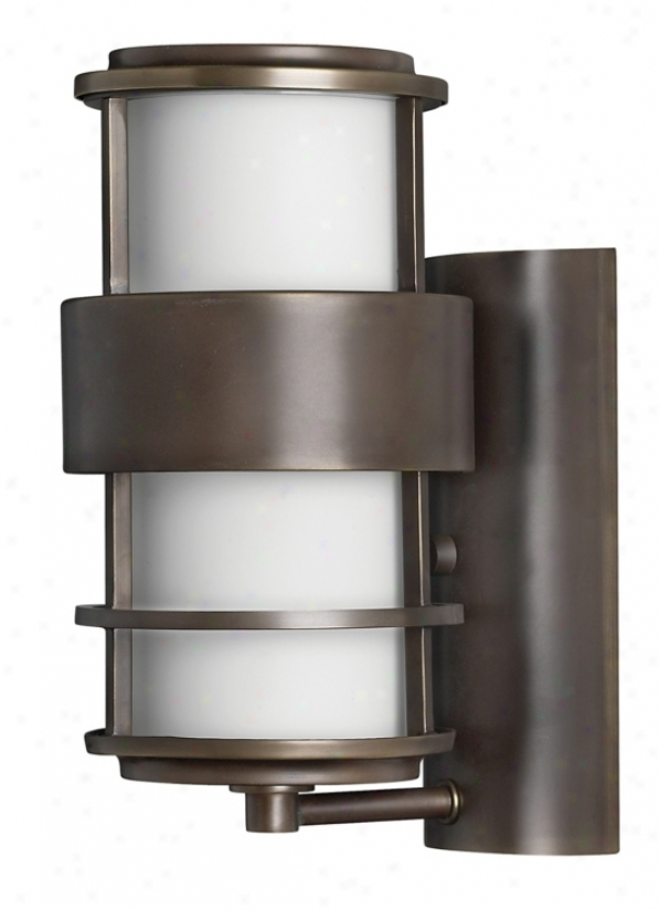 "Hinkley Saaturn Metro Bronze12"" High Outdoor Wall Light (60814)"