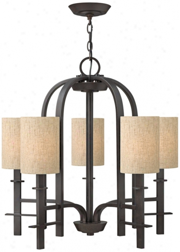 "Hinkley Sloan Collection 266"" Wide Regency Bronze Chandelier (v3918)"