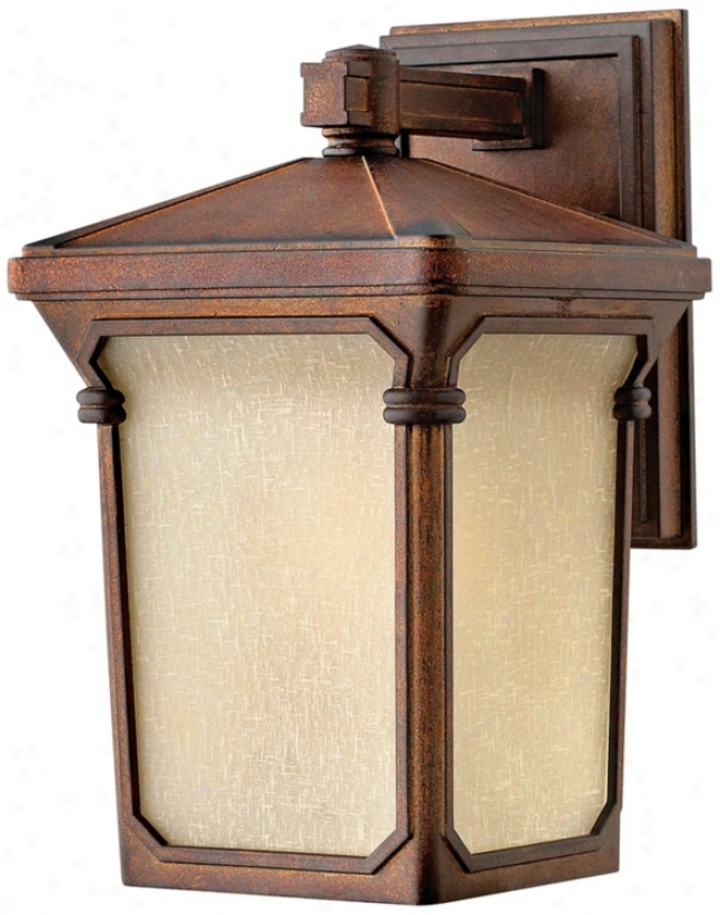 Hinkley Stratfotd Auburn 12 1/2&wuot; High Outdoor Wall Light (k0753)