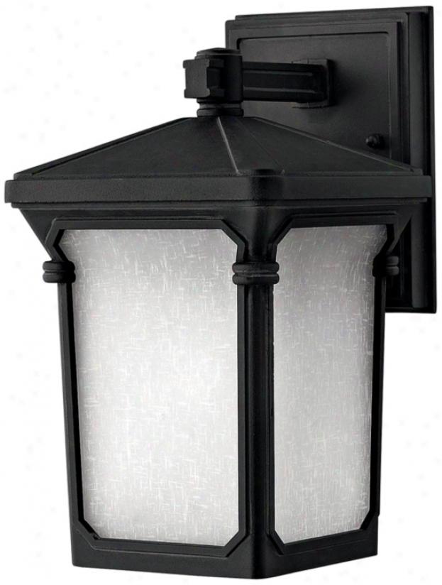 """Hinkley Stratford Black 10 3/4"""" High Outdoor Wall Light (k0715)"""