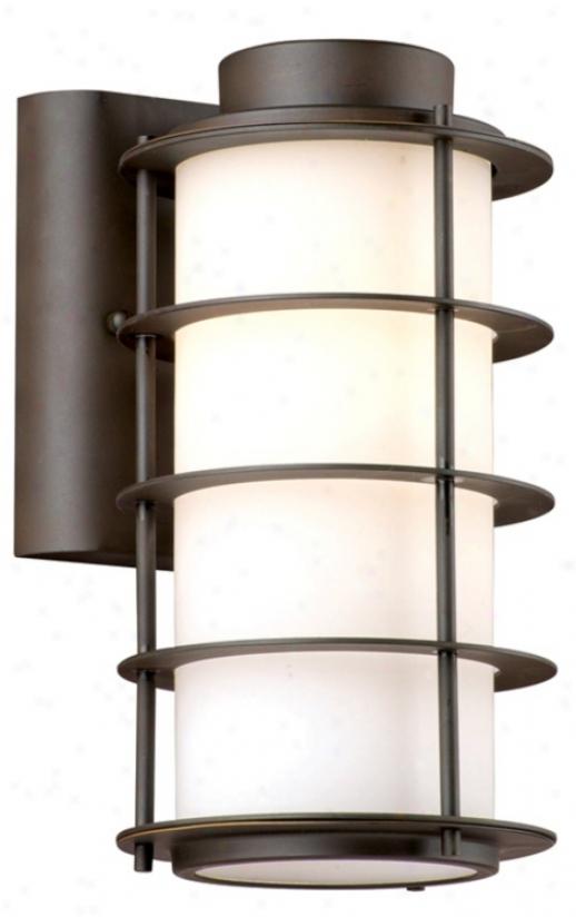 """Hollywood Hills Deep Bronze 10 1/4"""" High Outdoor Wall Light (l0315)"""