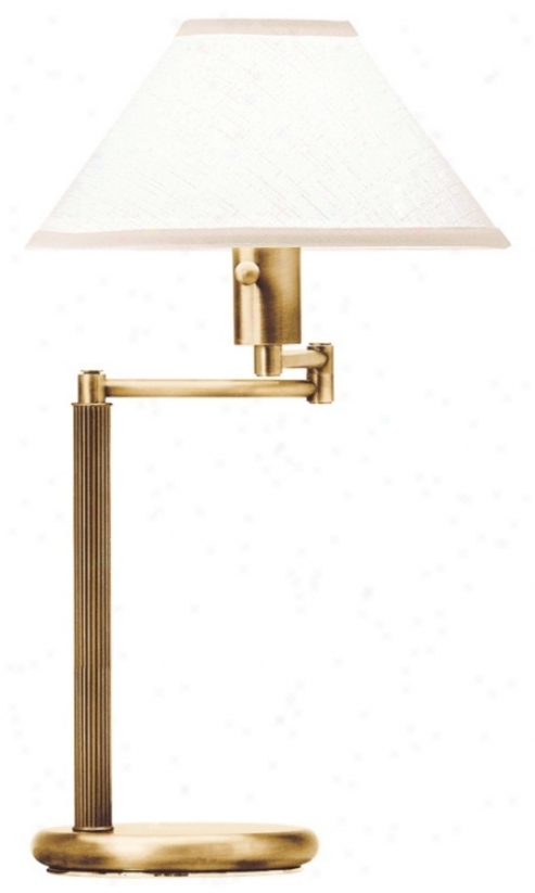 Home Office Swing Arm Antique Brass Desk Lamp (33722)