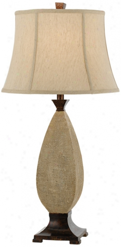 Horizon Camino Text8red Ancient rarity Cream Table Lamp (t3356)