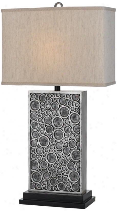 Horizon Holes Hand-craftd Silver Tabke Lamp (t3151)
