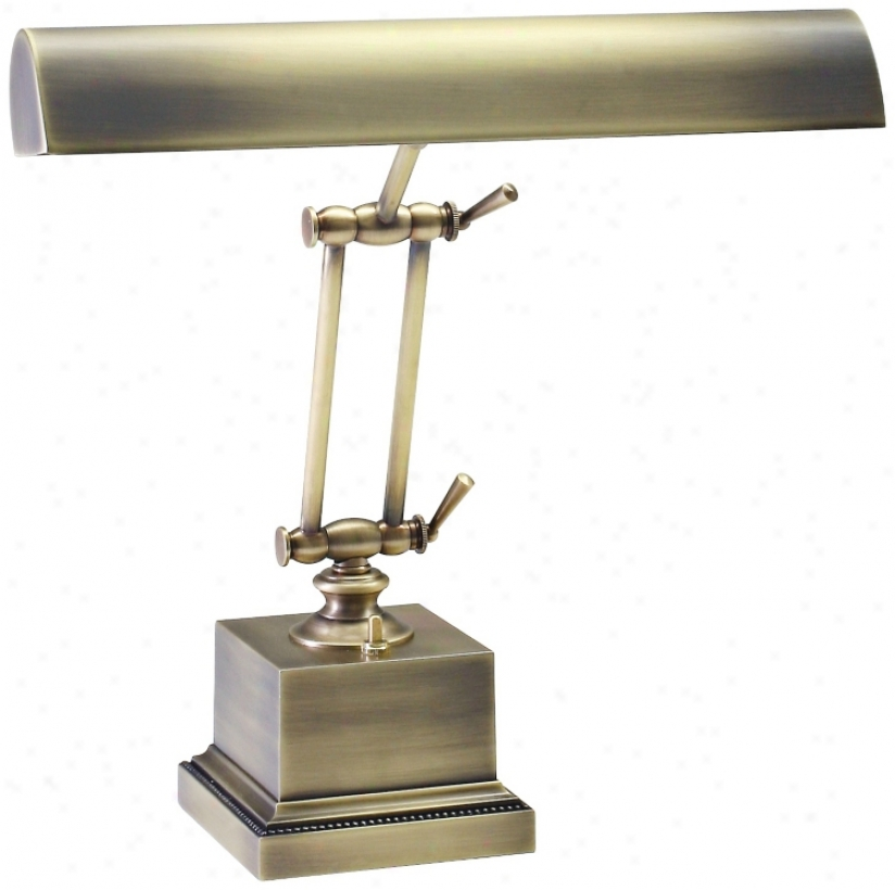 "House Of Troy 13"" High Brass Twin Arm Piano Desk Lamp (r3418)"