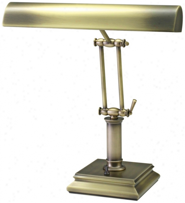 "House Of Troy 14"" High Brass Twin Arm Piano Desk Lamp (r3415)"