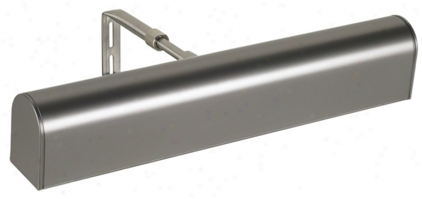 House Of Troy 14&qyot; Wide Satin Nickel Cordless Picture Light (11714)