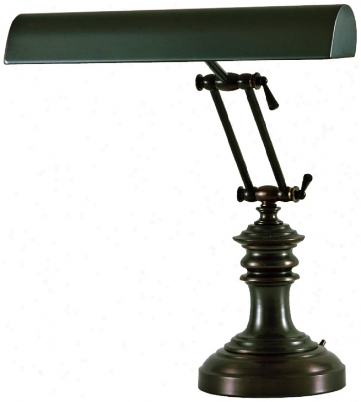 """House Of Troy 16"""" High Bronze Twin Arm Piano Deesk (r3419)"""