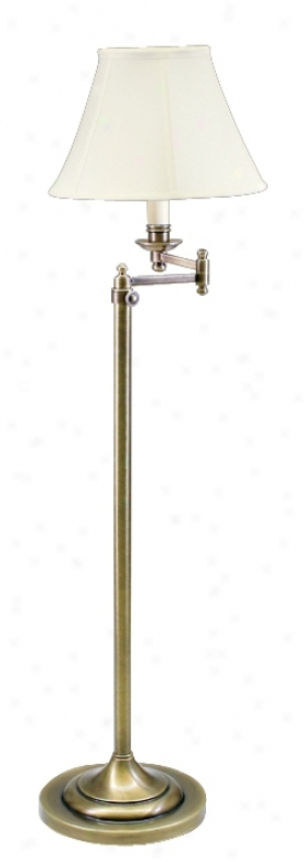 House Of Troy Adjustable Swing Equip Old Brass Floor Lamp (77268)