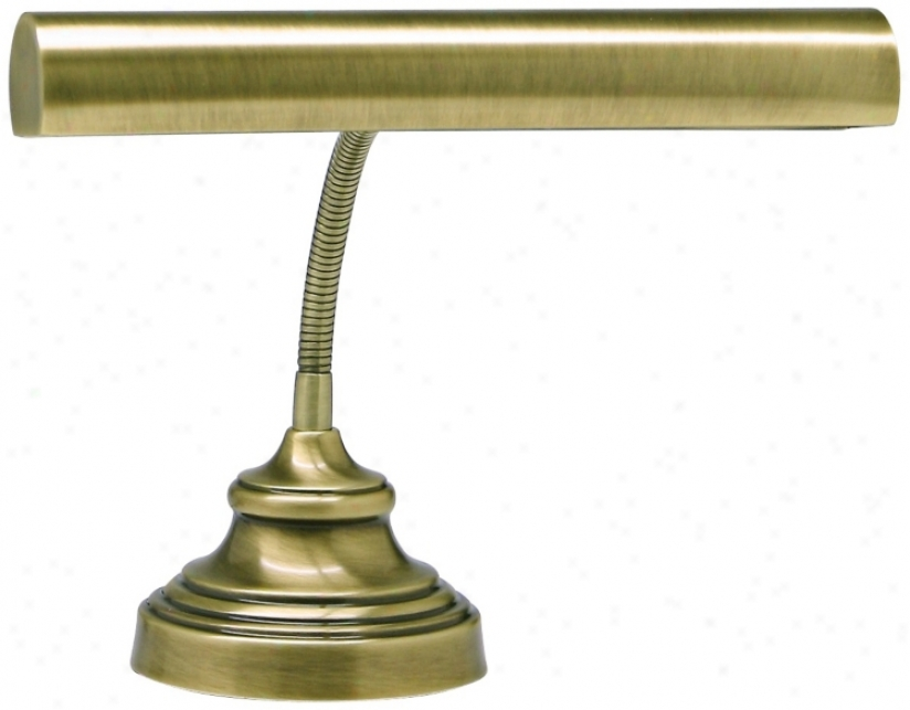 "House Of Troy Advent 12 1/2"" High Antique Brass Piano Lamp (r3372)"