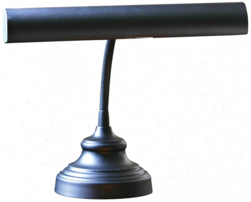 "House Of Troy Advent 12 1/2"" Higy Black Piano Lamp (r3370)"