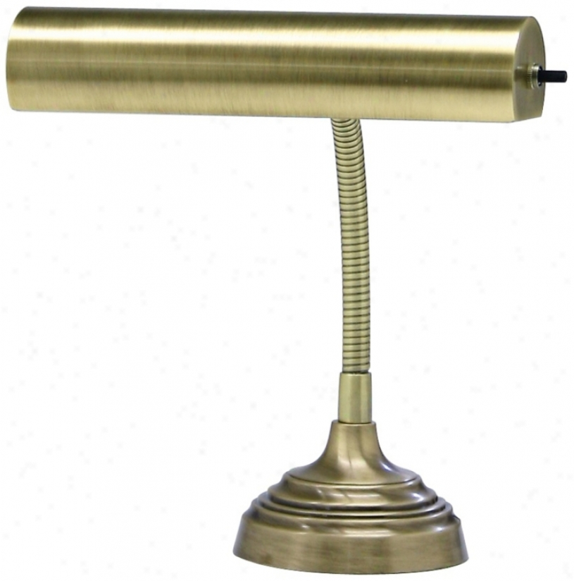 House Of Troy Coming of Christ Antique Brass Piano Desk Lamp (r3362)