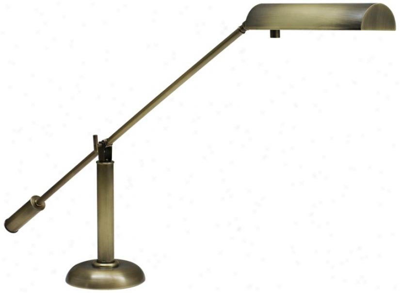 House Of Troy Antique Brass Counter Balance Piano Lamp (r3494)