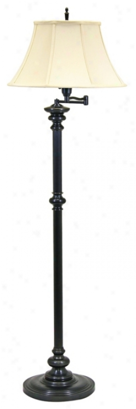 House Of Troy Newport Bronze Swing Arm Floor Lamp (84016)