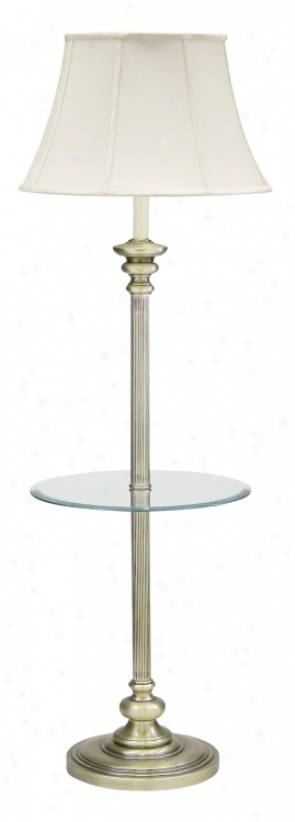 House Of Troy Newport Glass Tray Floor Lamp Antique Assurance (84172)